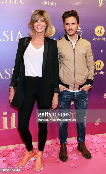 Arantxa de Benito and Agustin Etienne attend 'Anastasia The Musical' premiere at the Coliseum Teather on October 10 2018 in Madrid Spain