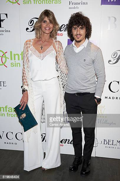 Arantxa de Benito and Agustin Etienne attend Flamenco Solidario party at Bucca Club on April 7 2016 in Madrid Spain