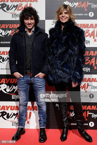 Arantxa de Benito and Agustin Etienne attend 'Mayumana Rumba' photocall at Rialto theatre on January 19 2017 in Madrid Spain