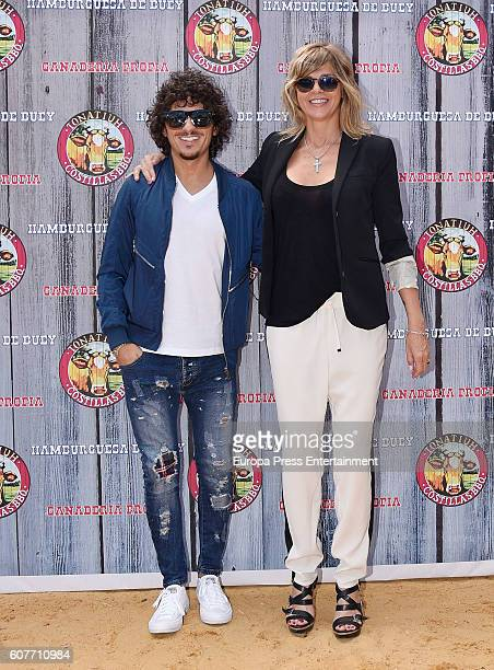 Arantxa de Benito and Agustin Etienne attend Terelu Campos' Birthday Party at Tonatiuh restaurant on September 18 2016 in Madrid Spain