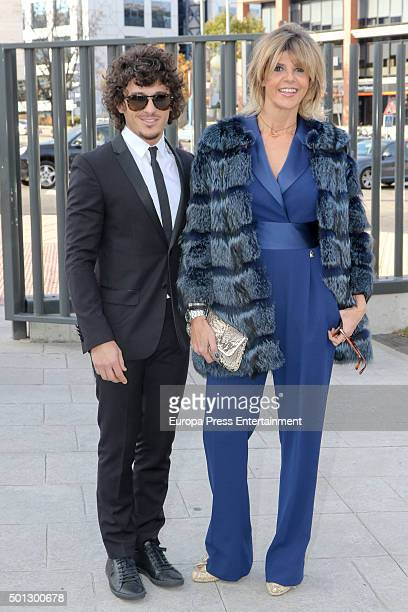 Arantxa de Benito and Agustin Etienne attend the Christening of Juan Pena and Sonia Gonzalez 's son Tristan Pena on December 10 2015 in Madrid Spain