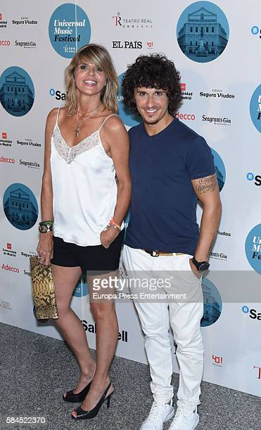 Arantxa de Benito and Agustin Etienne attend the concert of Manu Carrasco at Royal Theatre on July 28 2016 in Madrid Spain