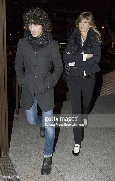Arantxa de Benito and Agustin Etienne attend the funeral for Simone Bose on January 15 2014 in Madrid Spain