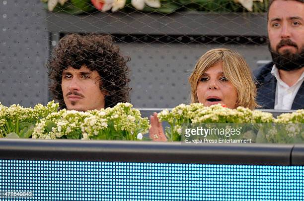 Arantxa de Benito and Agustin Etienne attend the Mutua Madrid Open tennis tournament at La Caja Magica on May 7 2015 in Madrid Spain