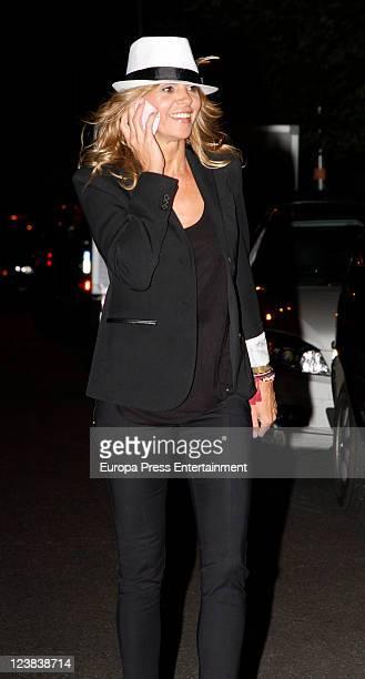 Arantxa de Benito attends Spanish Tv presenter Terelu Campos birthday on September 3 2011 in Madrid Spain