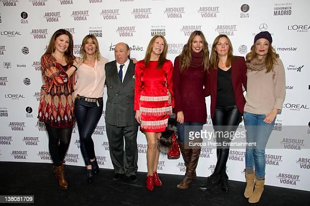 Arantxa de Benito Francis Montesinos Paquita Torrres Estefania Luyck and Lucia Hoyos attend show during MercedesBenz Fashion Week Madrid A/W 2012 at...