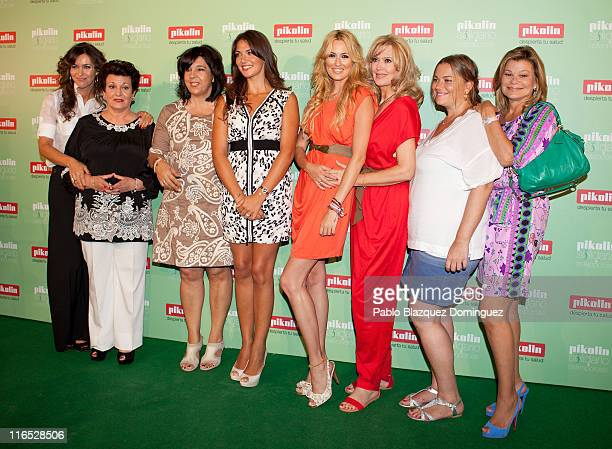 Arantxa del Sol with her mother Lorena Bernal and with her mother Carolina Cerezuela with her mother Maria Jose Gil and Caritina Goyanes with her...