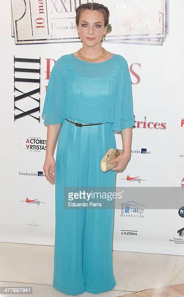 Arantxa Garrastazul attends 'Union de actores' awards 2014 photocall at Coliseum theatre on March 10 2014 in Madrid Spain