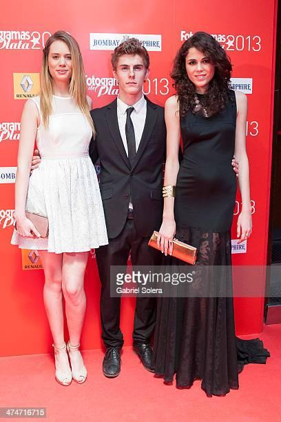 Arantxa Marti Patrick Criado and Sandra Martin attend the 'Fotogramas Awards' 2013 at Joy Slava on February 24 2014 in Madrid Spain