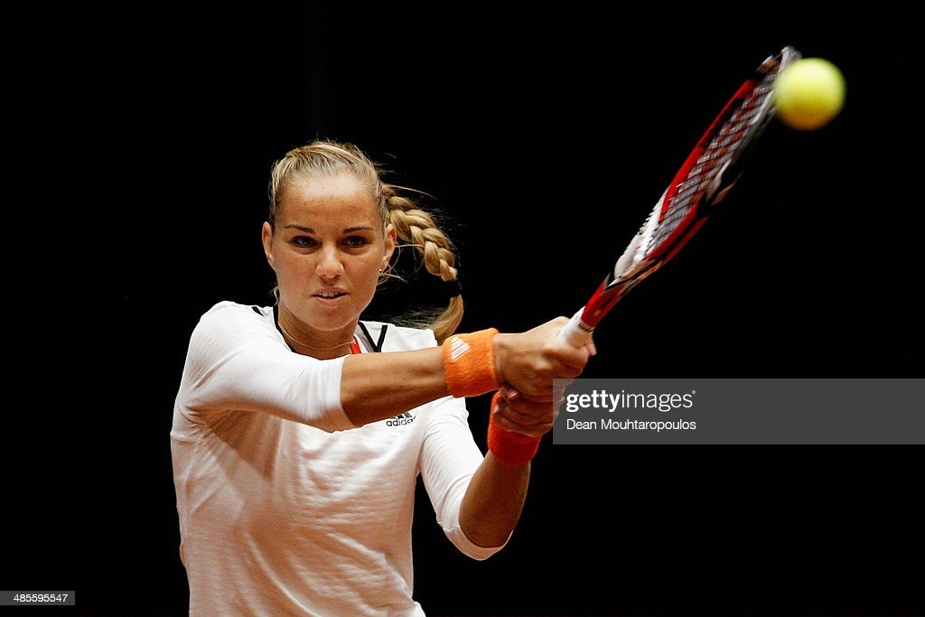 Netherlands v Japan - Fed Cup World Group II Play-off : News Photo
