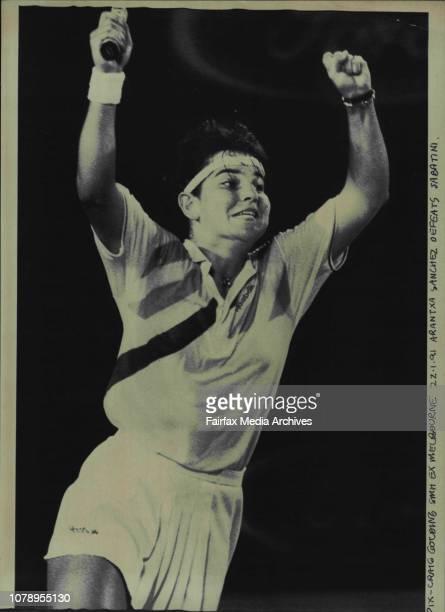 Arantxa Sanchez defeats Sabatini January 22 1991