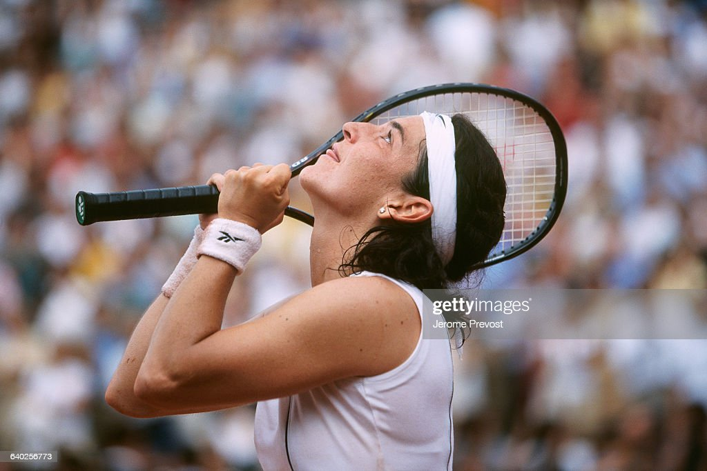 Arantxa Sanchez from Spain during the 1998 Roland Garros French Open.