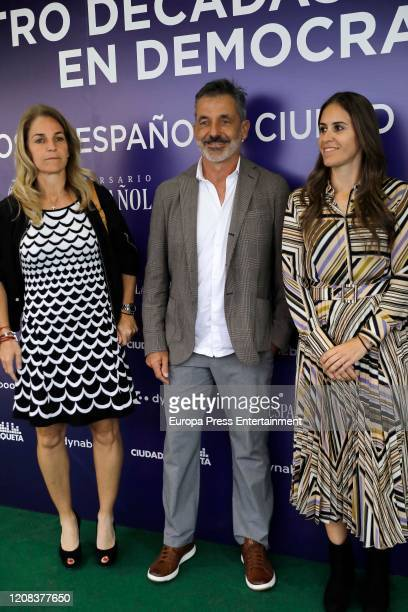 Arantxa Sanchez Vicario and Emilio Sanchez Vicario attend 'Cuatro décadas de deporte en democracia' presentation at Ciudad de la Raqueta on February...