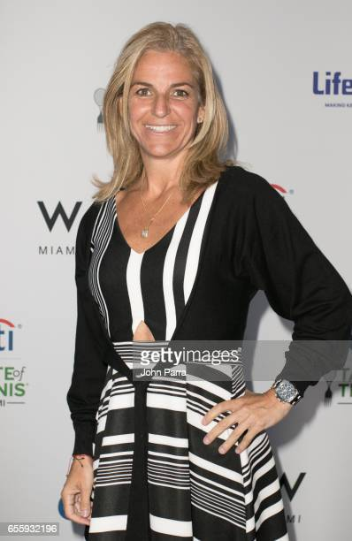 Arantxa Sanchez Vicario arrives at the Citi Taste Of Tennis Miami at W Hotel on March 20 2017 in Miami Florida