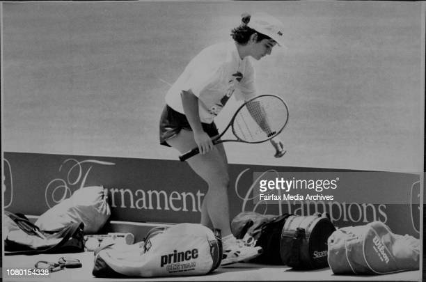 Arantxa Sanchez Vicario at the end of hit hit up practice sessionAt white city as players were practising bor the start of the NSW open January 10...