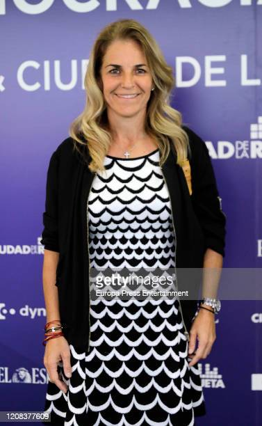 Arantxa Sanchez Vicario attends 'Cuatro décadas de deporte en democracia' presentation at Ciudad de la Raqueta on February 20 2020 in Madrid Spain