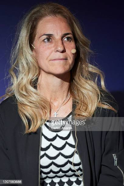 Arantxa Sanchez Vicario attends 'Cuatro Decadas de Deporte en Democracia' presentation at Ciudad de la Raqueta on February 20 2020 in Madrid Spain