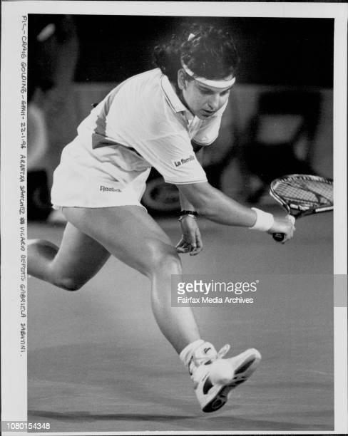 Arantxa Sanchez Vicario defeats Gabriela Sabatini January 22 1991