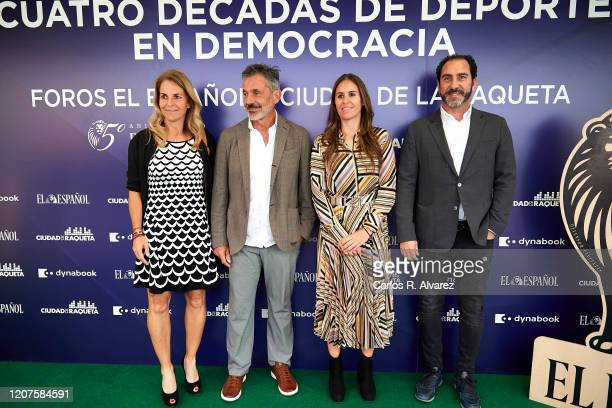 Arantxa Sanchez Vicario Emilio Sanchez Vicario Anabel Medina and Albert Costa attend 'Cuatro Decadas de Deporte en Democracia' presentation at Ciudad...