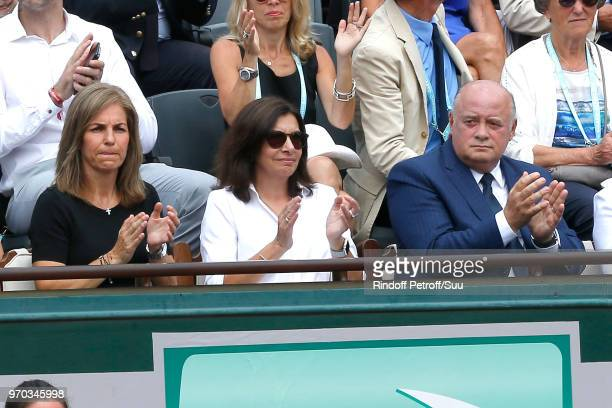 Arantxa Sanchez Vicario Mayor of Paris Anne Hidalgo and President of French Tennis Federation Bernard Giudicelli attend the Women Final of the 2018...