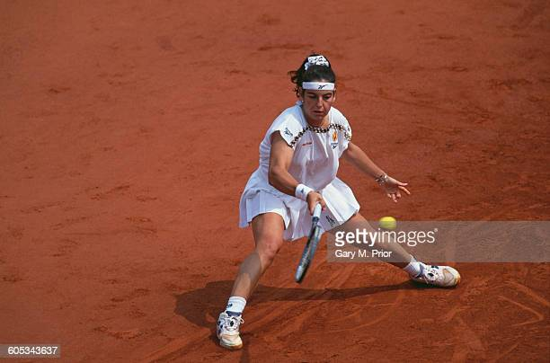 Arantxa Sanchez Vicario of Spain during the Women's Singles Final match against Steffi Graf at the French Open Tennis Championship on 10 June 1995 at...
