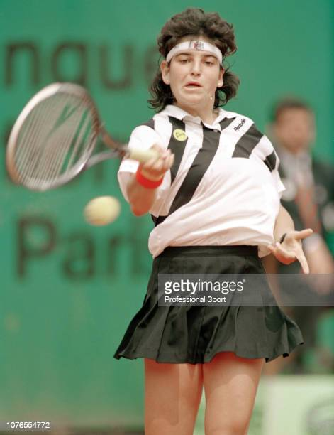 Arantxa Sanchez Vicario of Spain in action during the French Open at Roland Garros in Paris France circa June 1991