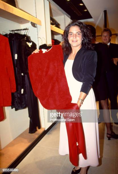 Arantxa Sanchez Vicario of Spain poses at the 18th Annual Women's Tennis Association Awards Banquet on August 29 1994 at the Bergdorf Goodman Parker...