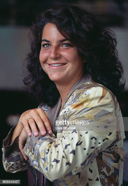 Arantxa Sanchez Vicario of Spain poses for a portrait before the ATP Lipton International Players Championship on 15 March 1995 in South Beach Miami...
