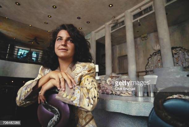 Arantxa Sanchez Vicario of Spain poses for a portrait before the ATP Lipton International Players Championship on 16 March 1995 in the Art Deco...