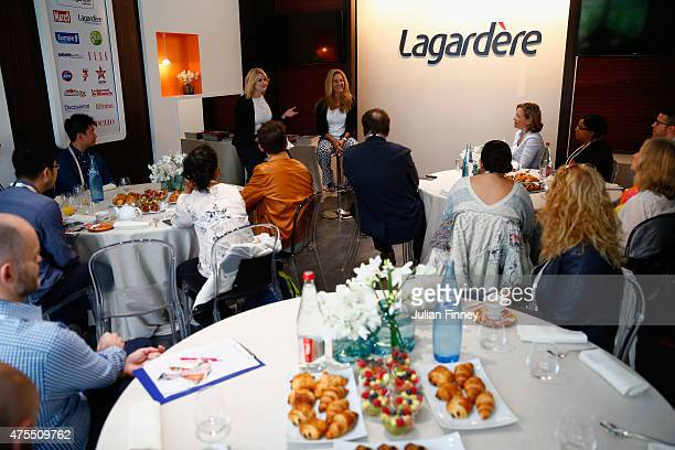 Arantxa SanchezVicario at the announcement of her role as Ambassador for the BNP Paribas WTA Finals Singapore presented by SC Global where she will...