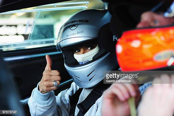 Arantxa SanchezVicario attends the Laureus Driving Experience for Good part of the Laureus Sports Awards 2010 at the Yas Marina Circuit on March 9...