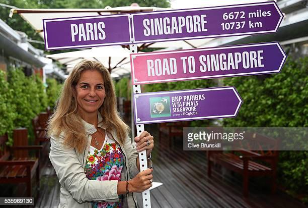 Arantxa SanchezVicario returns as ambassador to BNP Paribas WTA Finals Singapore on day ten of the 2016 French Open at Roland Garros on May 31 2016...