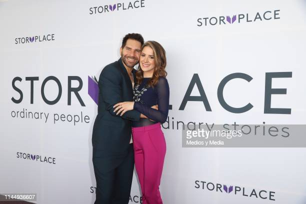 Arap Bethke and Ivana De Maria MorenoValle poses for photos during 'Story Place' App Launch on April 24 2019 in Mexico City Mexico
