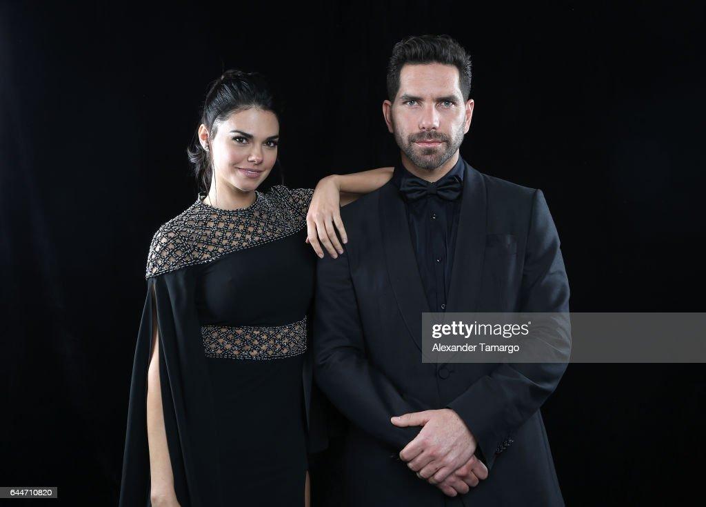 Arap Bethke (L) and Livia Brito pose at Univision's 29th Edition of Premio Lo Nuestro A La Musica Latina at the American Airlines Arena on February 23, 2017 in Miami, Florida.