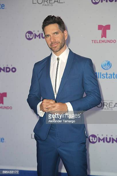 Arap Bethke arrives at Telemundo's Premios Tu Mundo 'Your World' Awards at American Airlines Arena on August 25 2016 in Miami Florida