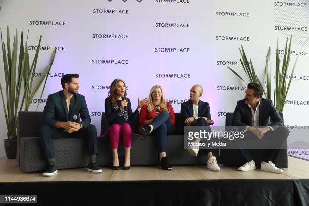 Arap Bethke Ivana De Maria MorenoValle Gina Diez Pedro Zurita and Billy Rovzar during 'Story Place' App Launch on April 24 2019 in Mexico City Mexico