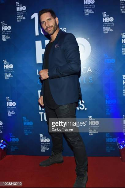 Arap Bethke poses for photos during the red carpet of HBO Latin America 15 Years Celebration at Soumaya Museum on July 18 2018 in Mexico City Mexico