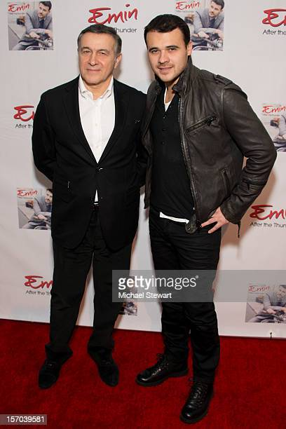 Aras Agalarov and musician Emin attend the record launch of Emin at Stephan Weiss Studio on November 27 2012 in New York City
