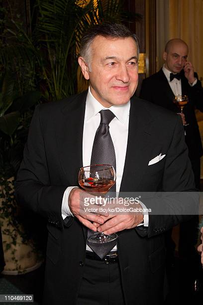 Aras Agalarov attends the DolceGabbana and Martini dinner at the Italian Ambassador's residence on March 17 2011 in Moscow Russia