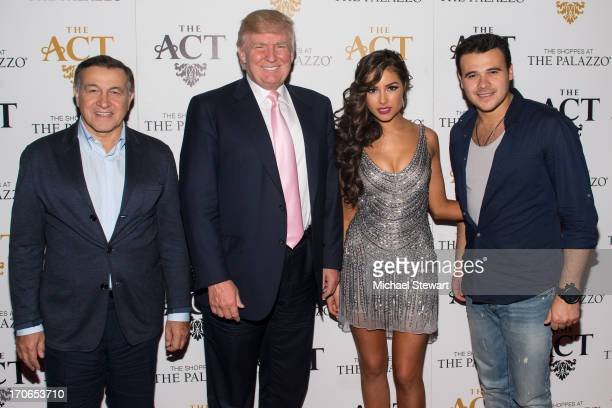 Aras Agalarov Donald Trump Miss Universe 2012 Olivia Culpo and musician Emin attend Emin USA launch of single 'Amor' party at The Act at The Palazzo...