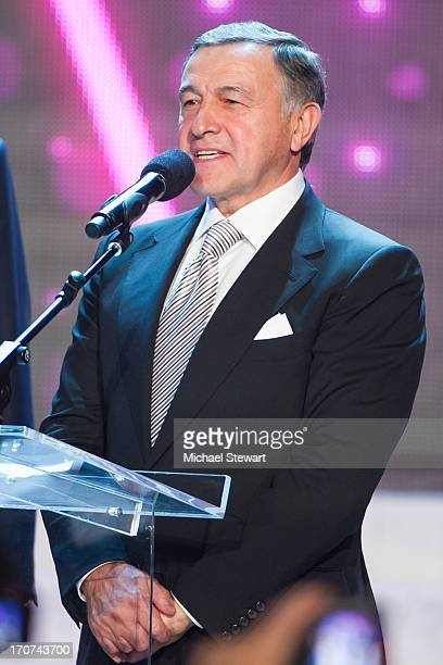 Aras Agalarov onstage after winning the 2013 Miss USA pageant at PH Live at Planet Hollywood Resort Casino on June 16 2013 in Las Vegas Nevada