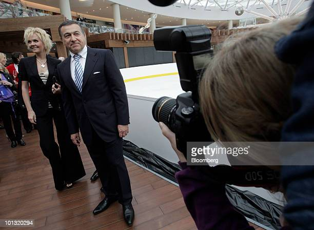 Aras Agalarov owner of Crocus Group center poses prior to the opening of the Vegas shopping mall in Moscow Russia on Tuesday June 1 2010 Agalarov...