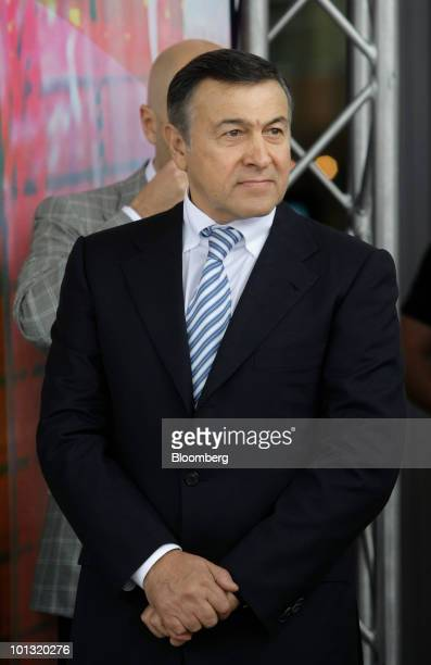 Aras Agalarov owner of Crocus Group pauses prior to the opening of the Vegas shopping mall in Moscow Russia on Tuesday June 1 2010 Agalarov plans to...