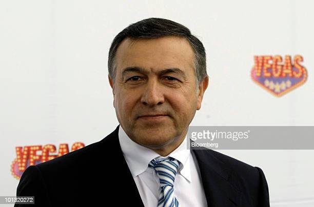 Aras Agalarov owner of Crocus Group poses prior to the opening of the Vegas shopping mall in Moscow Russia on Tuesday June 1 2010 Agalarov plans to...