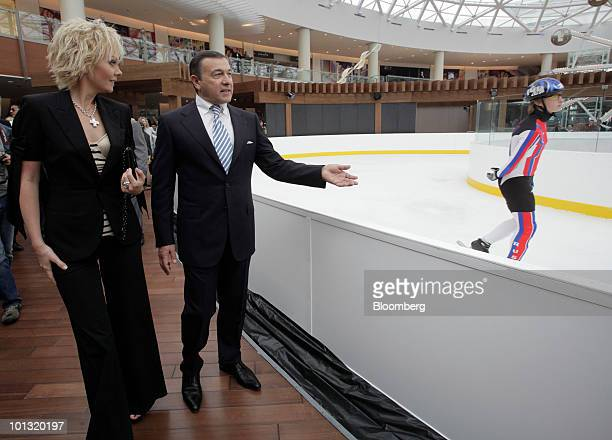 Aras Agalarov owner of Crocus Group shows a guest around the Vegas shopping mall in Moscow Russia on Tuesday June 1 2010 Agalarov plans to borrow...