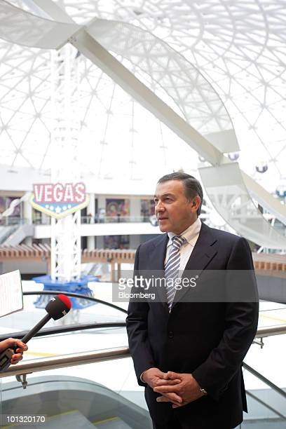 Aras Agalarov owner of Crocus Group speaks to journalists prior to the opening of the Vegas shopping mall in Moscow Russia on Tuesday June 1 2010...