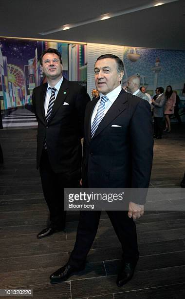 Aras Agalarov owner of Crocus Group walks through the Vegas shopping mall in Moscow Russia on Tuesday June 1 2010 Agalarov plans to borrow from OAO...