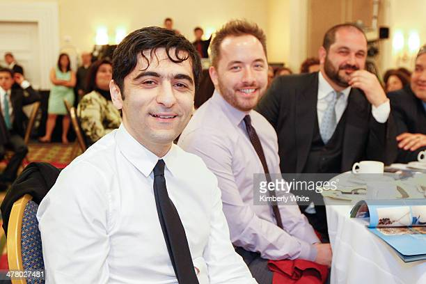 Arash Ferdowsi and Drew Houston and Shervin Pishevar attend the PARS Equality Center 4th Annual Gala at Marriott Waterfront Burlingame Hotel on March...