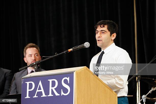 Arash Ferdowsi speaks at the PARS Equality Center 4th Annual Nowruz Gala at Marriott Waterfront Burlingame Hotel on March 8 2014 in Burlingame...