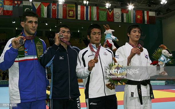 Arash Miresmaeili of the Islamic Republic of Iran Tsagaanbaatar Haskhbaatar of Mongolia Hiroyuki Akimoto of Japan and Kim Kwang Sub of the Republic...
